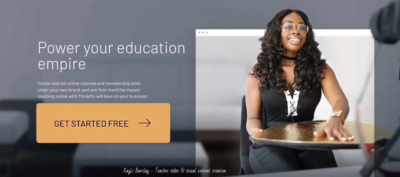 Try Thinkific for creating and selling online courses...